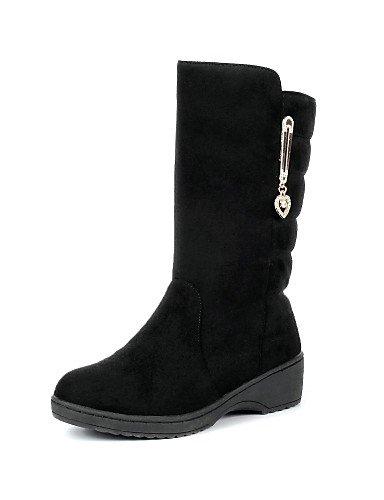 Botas Casual Zapatos 5 Cn38 5 Marrón Punta Redonda Uk6 us8 Brown Mujer Nieve Black Cn40 Plataforma Bermellón Comfort Eu38 De Negro 5 5 Vestido Uk5 Eu39 us7 Xzz Vellón fXqvAdd