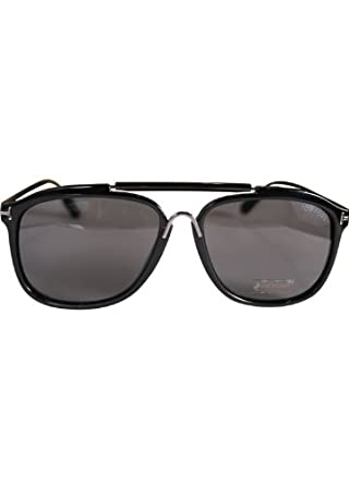 20733b00dd Tom Ford Cade Black Aviator Sunglasses  Amazon.co.uk  Clothing
