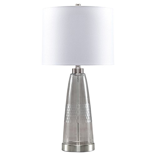 (Ashley Furniture Signature Design - Larrance Glass Table Lamp with Drum Shade -)