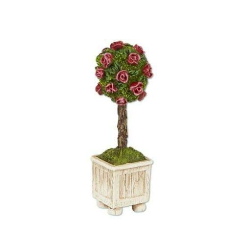 ShopForAllYou Figurines and Statues Miniature Dollhouse Fairy Garden Rose Topiary