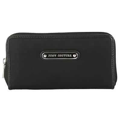 Juicy Couture Nylon Zip Around Wallet Black YSRUO079