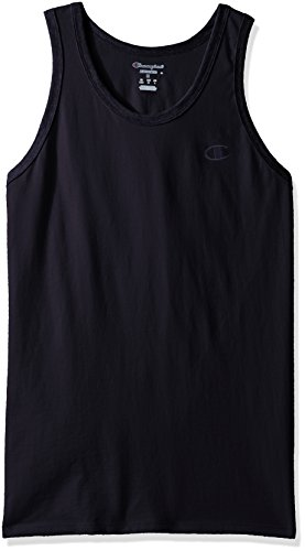 (Champion Men's Classic Jersey Ringer Tank Top, Navy, M)