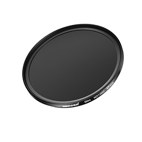 Neewer Slim 67MM Neutral Density ND 1000 Camera Lens Filter 10 Stop Optical Glass and Matte Black Flame for Lens with 67MM Thread Size, Ideal for Wide Angle Lenses by Neewer