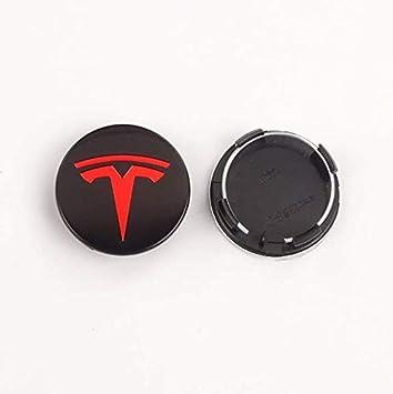 56mm Rsioslez 4 Piezas Coche de Aleaci/ón Rueda Centro para Tesla Model 3 Model X Model S,Auto Rueda Centro Cap Casquillos,Tapacubos Tapones para Llantas