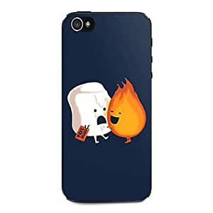 LCJ Ice Cream And Fire Pattern Hard Case for iPhone 4/4S