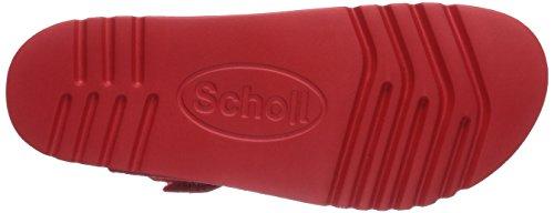 Scholl MANOLE red - Sandalias de dedo de cuero mujer rojo - rojo