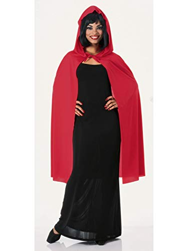 Rubie's Costume Co Hooded Cape 3/4 Length Role Play Costume, Red, 45-Inch]()