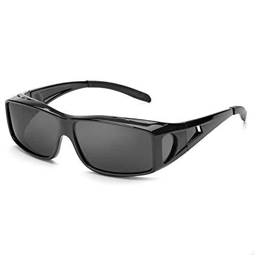 IGnaef Wrap Around Sunglasses,HD Polarized to Wear as Fit over Prescription Glasses for Driving - Eyewear Around Wrap