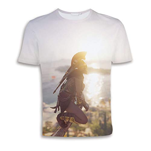 Unisex 3D Printing T-Shirts Game Graphic Shirt Cool Novelty Funny Fashion Cosplay Commemorate Costume Loose Casual Short Sleeve Round Neck Summer Top ()