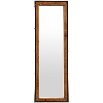 stone beam rustic wood frame mirror natural home kitchen. Black Bedroom Furniture Sets. Home Design Ideas