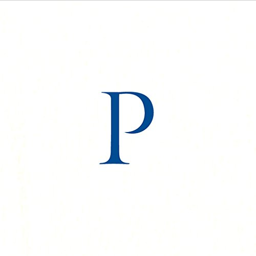 (Entertaining with Caspari Navy Initial P Pearl Paper Linen Cocktail Napkins (30 Pack), White)