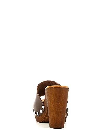 Grünland ARENA CI1192 sandalia blanca mesetas talón de pezuñas T.moro