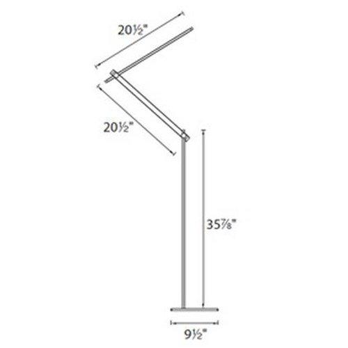 WAC Lighting FL-1050-AL Balance LED Floor Lamp, Brushed Aluminum by WAC Lighting