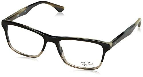 Ray-Ban Men's 0rx5279 No Polarization Square Prescription Eyewear Frame Horn Gradient Transparent Grey, 53 mm ()