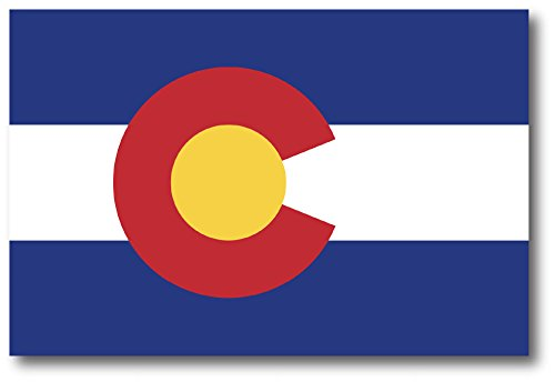 Colorado Car Magnet US State Flag Refrigerator Locker SUV Heavy Duty Waterproof