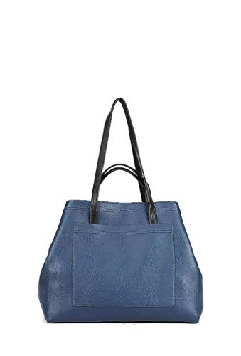 Elegante Blu Flessibile Di Shopping Girl Scuola Working Idea Donna Regalo Bag A Tote Angkorly Moda Scuro Tendenza Bolsos Cabas Tracolla Shopper nxw4WZ1q0H
