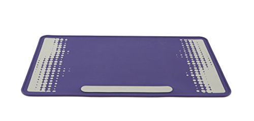 - Heathrow Scientific HS120507 Lab Mat, HS120507, Silicone benchtop Protector, Side One Purple, Side Two Purple with Grey Design