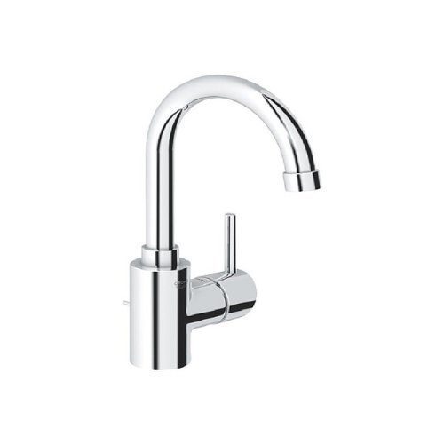 cheap Grohe 20 426 Agira Centerset Bathroom Faucet with SilkMove® and QuickFix® Techno, Starlight Chrome
