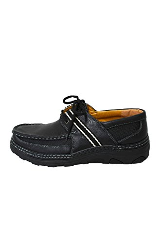 Herenmode Loafer Casual Comfortabele Zachte Veterschoenen Zwart Bruin (3885a) Zwart