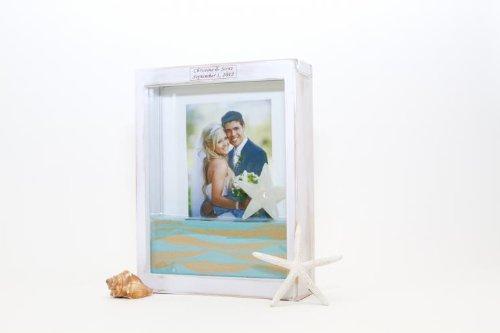 Unity Sand Ceremony Frame Kit, Distressed White, Includes 2 bottles ...