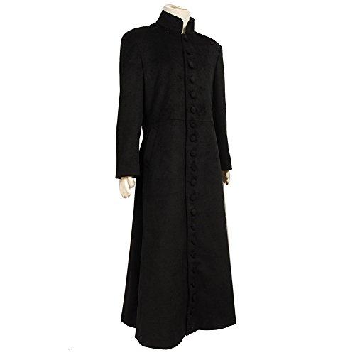 Matrix Neo Cosplay Costume Black Wool Trench Coat