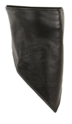 Shaf International Leather Scarf (Black, One Size)