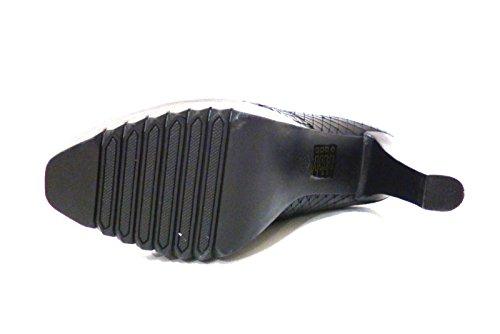 Scarpe donna stivaletto mezzo stivale al polpaccio nero con tacco alto Bruno Premi 6301X