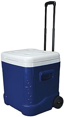 Igloo Ice Cube Roller Cooler (60-Quart, Ocean Blue)