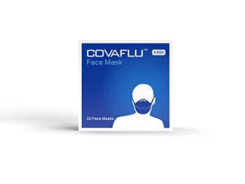 COVAFLU KN95 Disposable Fold Flat Face Mask (Pack of 10 KN95 Face Masks) 319kLpYoS5L
