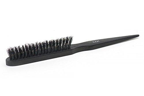 LUQX Volume Brush, NOBLE BLACK - Toupierbürste aus Buchenholz mit Naturborste