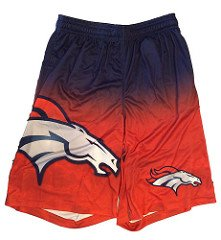 (FOCO NFL Denver Broncos Football Team Logo Gradient Big Logo Training Shorts, Team Color, Small)