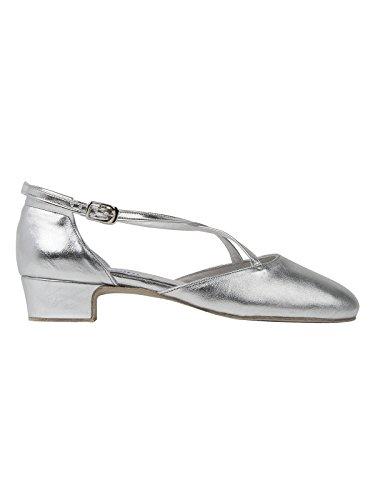 Latein 2021 Broadway cm Ballroom Schuhe Silver Rumba Leder Standard Salsa Rumpf 3 Tanzschuhe Chromledersohle Tango Absatz dwIxq5I1