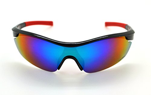 VertXmasculinepolarisésdes lunettes desoleilSportCyclismecourseextérieure.-Cadrenoir.Lentillebleu. A21B5