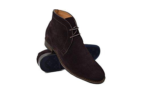 Zerimar Botas con Alzas Interiores Para Caballeros Aumento DE 7 cm Zapato confeccionado EN Piel de Alta Calidad Color Cafe Talla 39