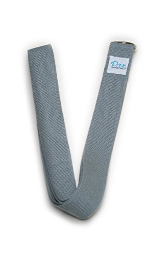 Stretching Strap for Rehabilitation, yoga, physical therapy, warm up, Pilates and Barre Stretching by Paxfreely- Grey