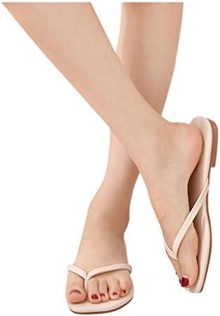 ANJUNIE Women Vintage Ankle Strappy Thong Sandals Clip-Toe Shoes Zipper Comfy Flats Beach Sandals