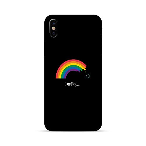 Compatible for iPhone 6/6S - LGBT Phone Case - Rainbow Loading - Cute Drawing - Funny - Cool