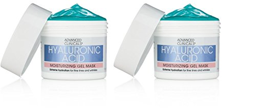 Advanced Clinicals Hyaluronic Acid Moisturizing Gel Mask wit