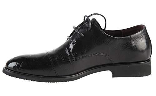 Empleo Cordones para Shiney De Formales Zapatos Vestir De Hombres Informal Ocasionales Black Zapatos De De De Oficina Negocios Punta Cuero Moda De 86rRnqw8