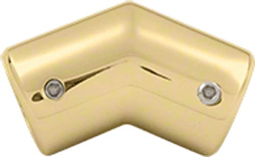 (CRL S135BR Polished Brass 135 Degree Corner Support Bar Bracket )