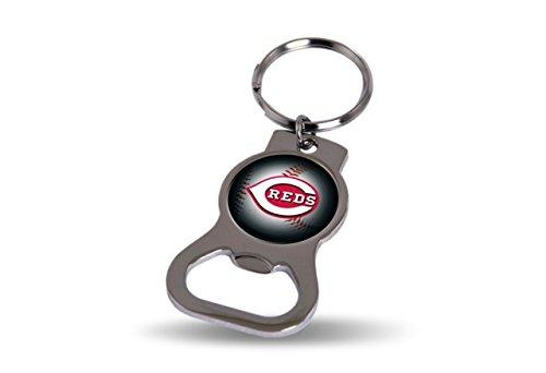 - MLB Reds Bottle Opener Key Tag, 4 x 3, Logo Color