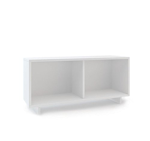 Loft Twin Unit (Oeuf Perch Twin Size Shelf Unit, White)