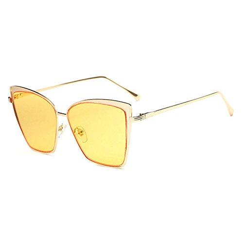 Aoligei Yeux de chat Europe tendance lunettes de soleil rétro grosse boîte couleur lumineuse film lunettes de mode qQDiOdE