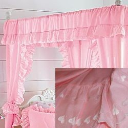 JC Penney Solid Hearts Canopy Curtains Petal Pink