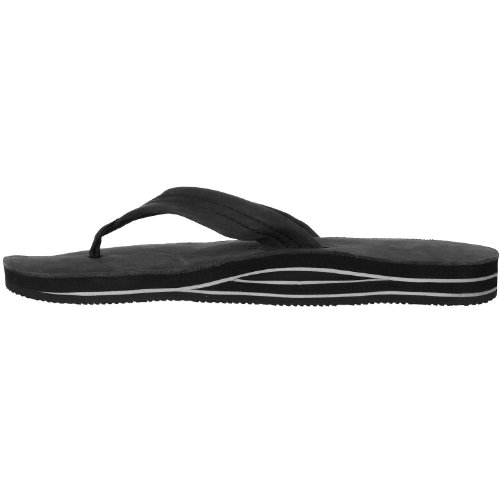 105a61bd32d5 free shipping Rainbow Sandals Mens Premium Double Layer Arch Leather Sandals  - Black XXXL
