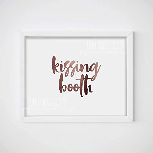 TimPrint Kissing Booth Kissing Booth Sign Wedding Sign Love Sign Party Prop Wedding Signs Party Decor Wedding Framed Print
