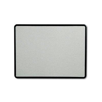 Contour Fabric Bulletin Board, 48 x 36, Gray Surface, Black Plastic Frame