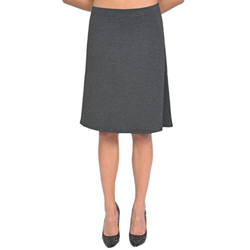(Stretch is Comfort Women's A-Line Skirt Charcoal Gray Medium)