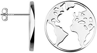 SOFIA MILANI – Women's Earrings 925 Silver – World Map Stud Earrings – 20534