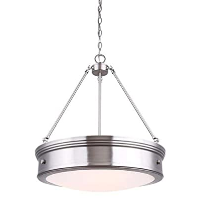 Canarm Boku 4 Light Chandelier with Flat Opal Glass - Oil Rubbed Bronze Finish...... -  - kitchen-dining-room-decor, kitchen-dining-room, chandeliers-lighting - 319kg8EpoxL. SS400  -